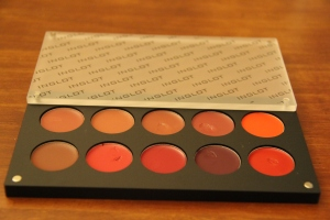 My Inglot lip palette..