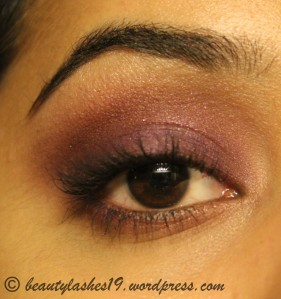 Purple eye makeup..