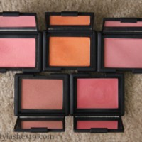 NARS blush selection for tan skin..