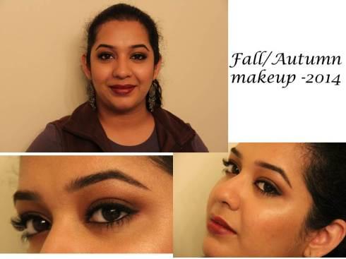 Fall or autumn makeup